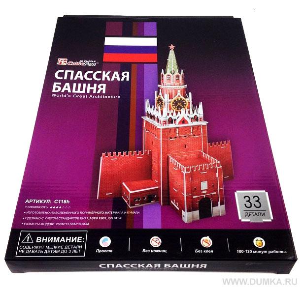 3D Пазл «Спасская башня»