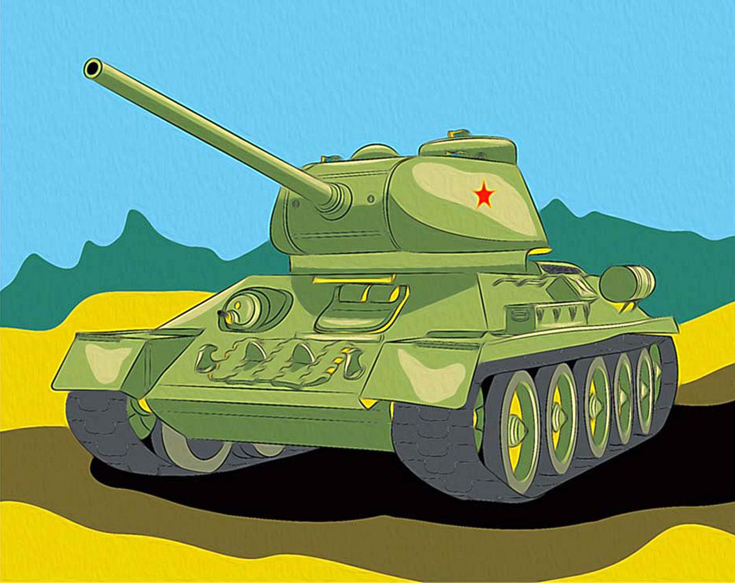 картинка танк в бане