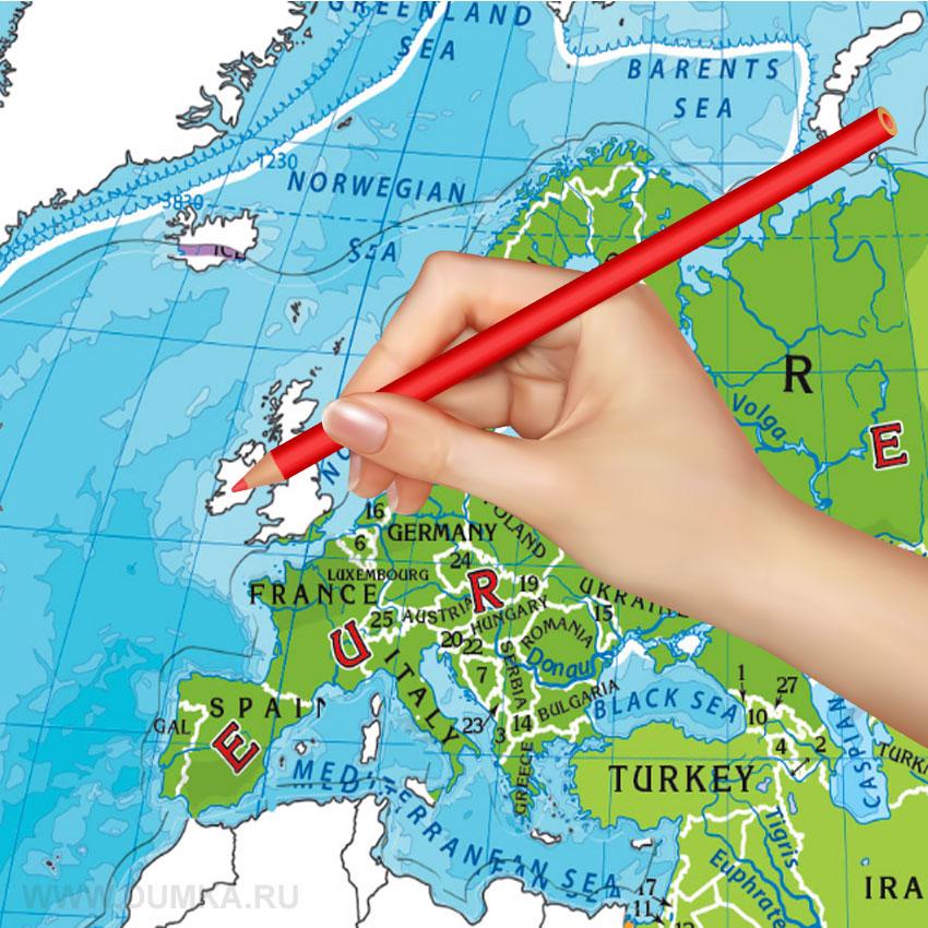 купить пазл раскраску карта мира за 219 рублей в интернет