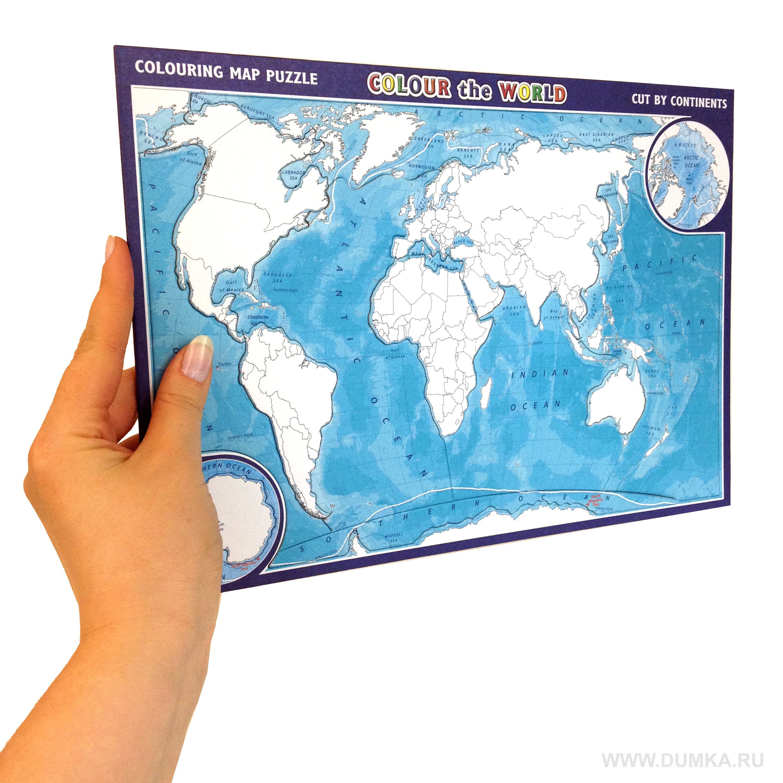 Карта мира раскраска онлайн